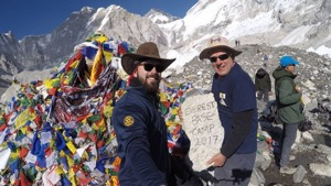 Ted & Mark Gracielski at Everest Base Camp