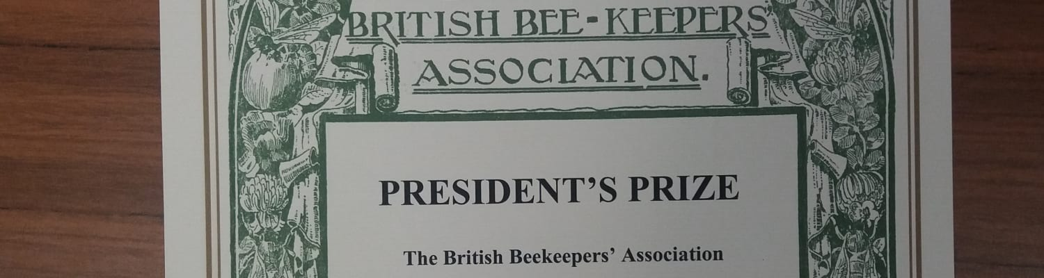 9 year old Rosie Edmundson receives BBKA President's Prize 2018