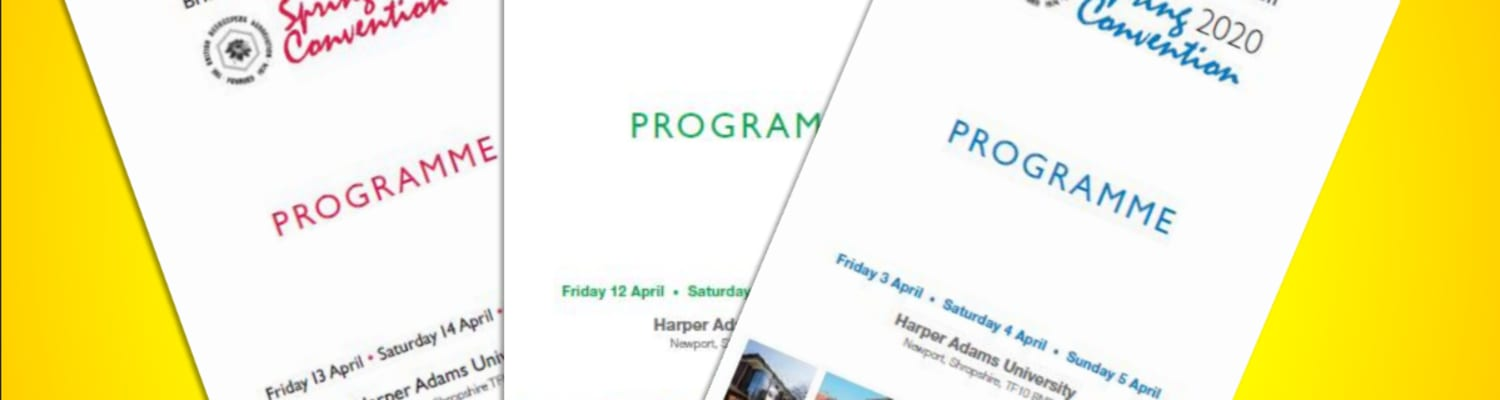 Past Spring Convention Programmes