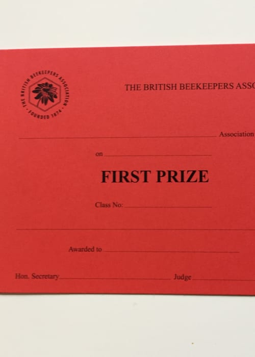 Prize Cards - First